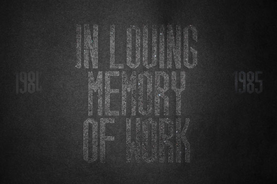 In Loving Memory of Work coal dust poster